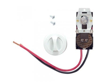 Cadet White, Built-In Single Pole Thermostat for Com-Pak Wall Heater, 22A