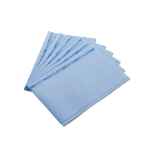 Chicopee Chix Blue/Blue Reusable Foodservice Towels w/ Microban 13X21