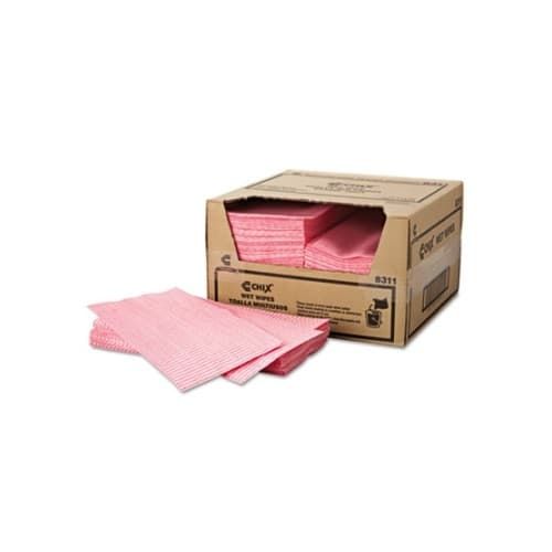 Chicopee Chix Pink Striped Reuseable Wet Wipes 11.5X24