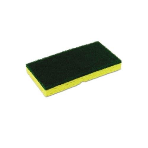 Continental Yellow and Green, Medium-Duty Sponge N' Scrubber-3.375 x 6.25