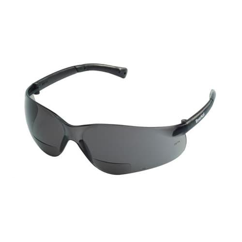 Crews BearKat Magnifier Protective Eyewear, 2.5 Diopter, Gray