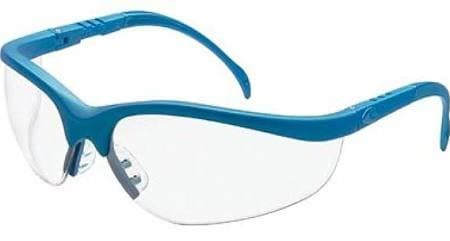 Crews Blue Frame Clear Lens Klondike Protective Eyewear