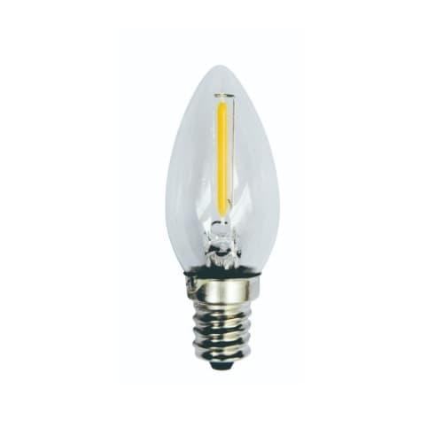 1W LED Filament Bulb, 10W Inc. Retrofit, 60 lm, 2700K