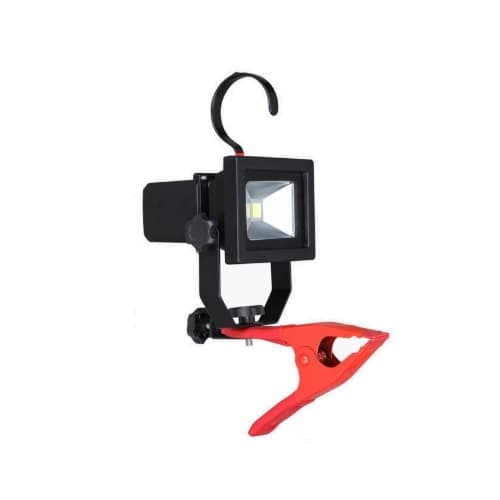 CyberTech 10W Clamp Work Light w/ 5-ft Cord, 800 lm, 120V, 5000K, Red
