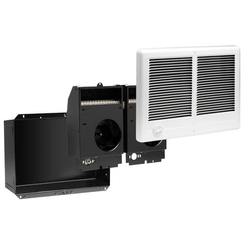 Cadet 4000W Com-Pak Twin Wall Heater Complete Unit with Thermostat, White, 240V