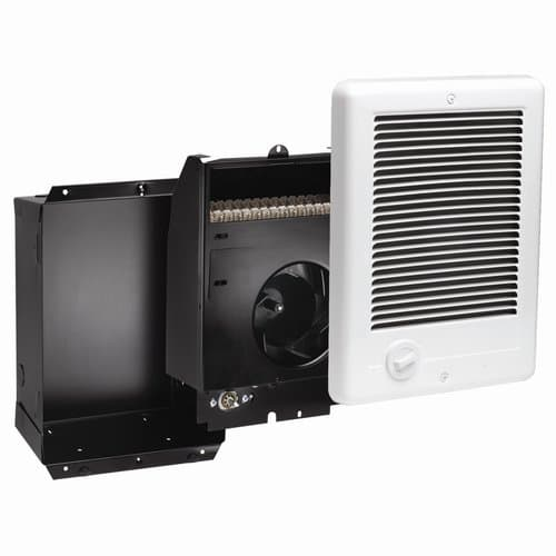 Cadet 1500W at 240V Com-Pak Wall Heater, Complete Unit with Thermostat, White