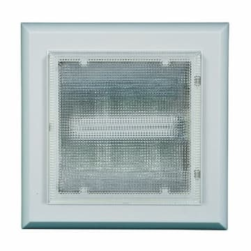 5W Square LED Surface Mount Ceiling Fixture, 3000K, White, 2 Pack