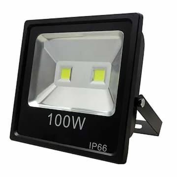 100W LED Slim Flood Light, 9000 lm, 85V-265V, 6500K, Black