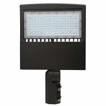 80W LED Shoebox Post Top, T5, Dimmable, 10000 lm, 100V-277V, 4000K