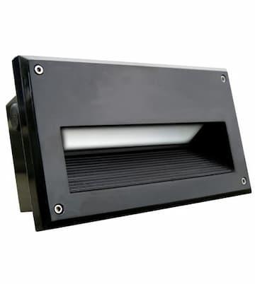 5W LED Recessed Brick Step & Wall Light, 85V-264V, Black