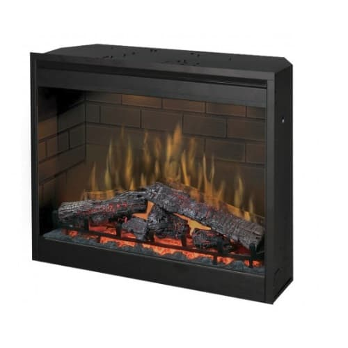 """Dimplex 30"""" LED Electric Fireplace, Self-trimming"""