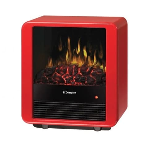 "Dimplex 1300W 13"" Electric Stove, Mini Cube, Gloss Red"
