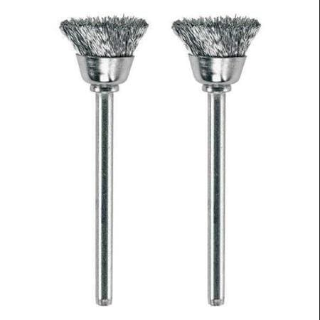 Carbon Steel Brushes (2 Pack), 1/2''