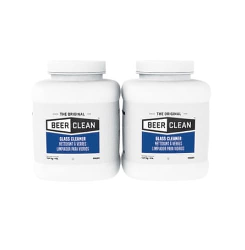 Diversey Unscented, Powder Beer Clean Glass Cleaner- 4 Pound Container