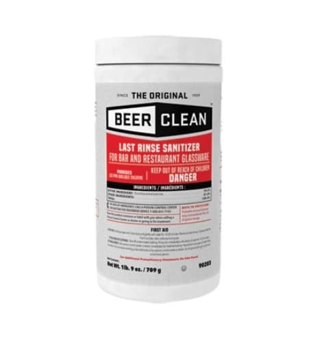 Diversey Beer Clean Last Rinse Glass Sanitizer Powder-25 Ounce Container