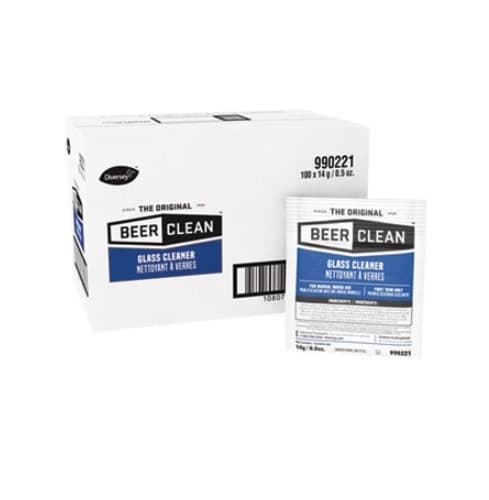 Diversey 1/2 oz Pouch Beer Clean Unscented Powder Glass Cleaner