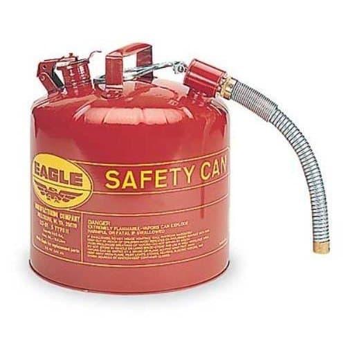 "Eagle 5 Gallon 12"" Flex Spout 1"" Safety Can"