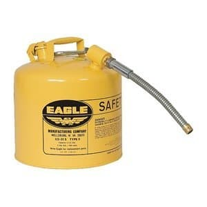 Eagle 5 gal Galvanized Steel Type ll Safety Cans