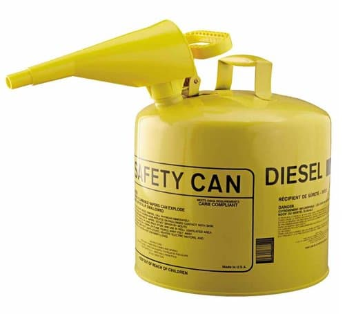Eagle 5 Gallon Metal Yellow Type I Safety Can w/Funnel