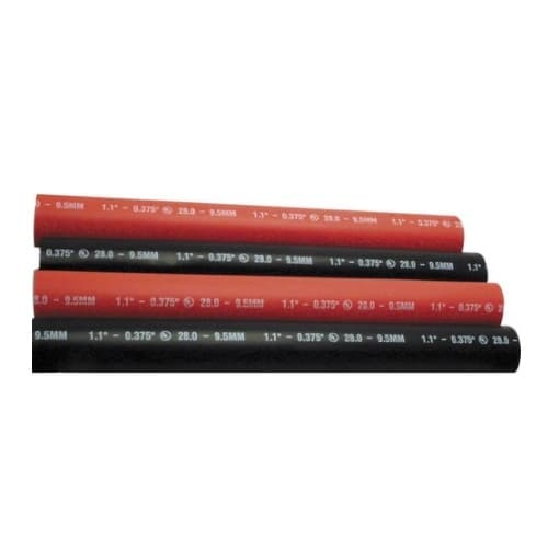 12-in Heavy Wall Heat Shrink Tubing, .400-.150, 14-6 AWG, Red