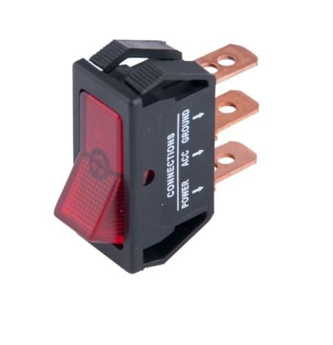 Calterm 20 Amp 12V Illuminated Red Glow Rocker Switch