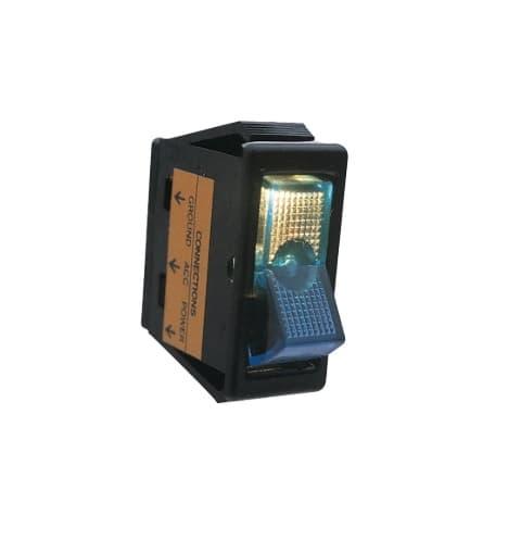 Calterm 20 Amp Illuminated Blue Glow Rocker Switch
