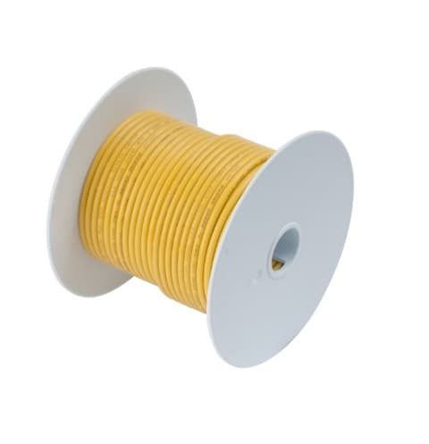 100 FT #14 AWG Yellow Primary Copper Wire
