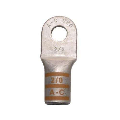 Copper Power Lug, Extreme Duty, 6 AWG, #10 Stud