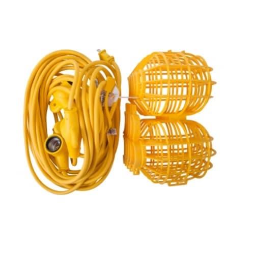 50 ft 15 Amp Temporary 12/3 AWG String Lights