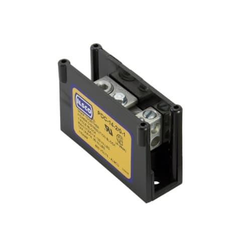 Power Distribution Block, Modular Type, 1 Pole, 2/0-14 & 4-14 AWG