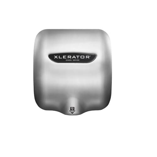 Excel Dryer Xlerator Automatic Hand Dryer, Br. Stainless Steel, Custom Image
