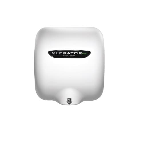 Excel Dryer Xlerator ECO Automatic Hand Dryer w/ HEPA Filter, White Epoxy Painted