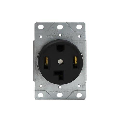 Enerlites Black Industrial Grade Power Devices Flush-Mount Receptacle