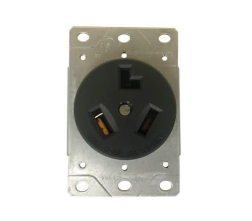 Enerlites Black 30A Industrial Grade Flush Mount Receptacle