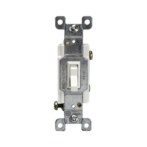 Enerlites White Single-Pole Push-In and Side Wired 15A Toggle Switches