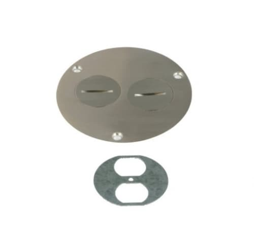 Enerlites Flush Round Cover Plate with 20A Tamper & Weather Resistant GFCI, Stainless Steel