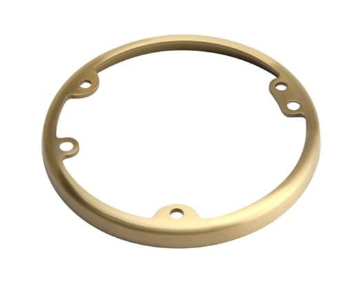 """Enerlites Brass 4.25"""" Dia Round Metal Flange Receptacle Plate"""