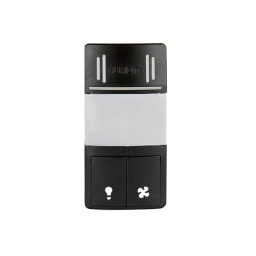 Wall Switch Cover for Motion & Humidity Sensor, Black