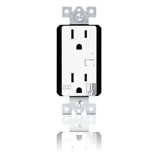 Enerlites White Wireless Control Smart Meter Duplex Receptacle