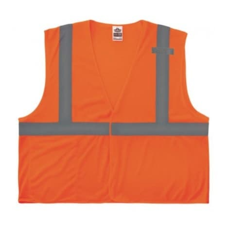 Ergodyne GloWear® 8210HL Type R Class Safety Vest, 4XL/5XL, Orange