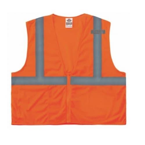 Ergodyne GloWear® 8210Z Type R Class Safety Vest, S/M, Orange