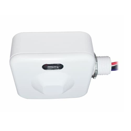 Microwave Occupancy Sensor for High Bay, Up to 2826 Sq Ft, 0-10V Dim, 120-277V, White