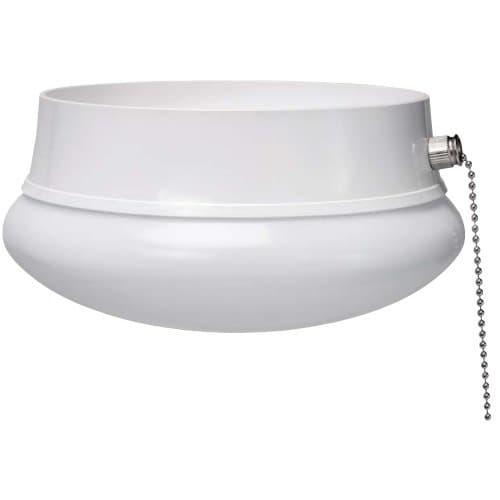 ETi Lighting 7-in 11.5W LED Spin Light w/ Pull Chain, E26, 830 lm, 120V, 4000K, White