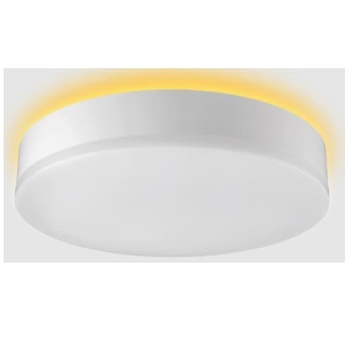 16-in 22W LED Round Flushmount, CCT Color Selectable, Nightlight Trim