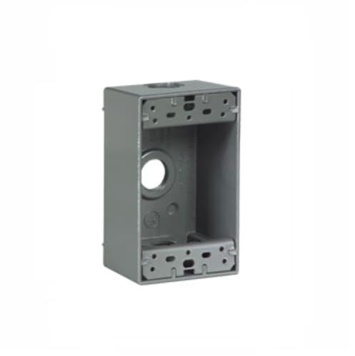 Eaton Wiring 1-Gang FS Electrical Box, 3 Holes, Weatherproof, Cast Aluminum