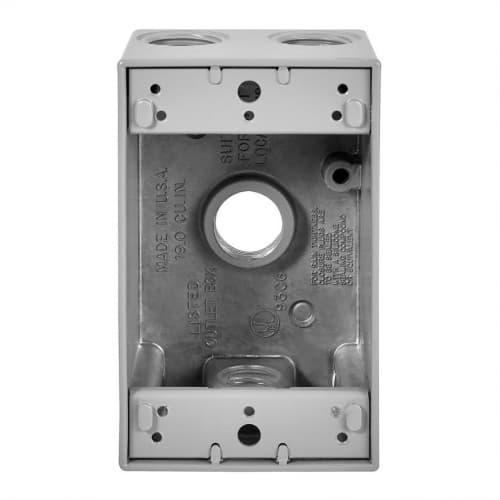 Eaton Wiring 1-Gang FS Electrical Box, 4 Holes, Weatherproof, Cast Aluminum