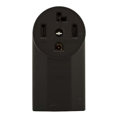 30 Amp NEMA 14-30R 125V/250V Range and Dryer Flush Power Receptacle
