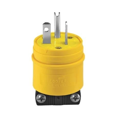 Eaton Wiring 125V Severe Duty Straight Blade Plug, 2P3W