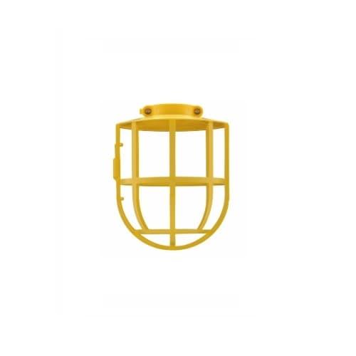 Plastic Lamp Guard w/ Adjustable Collar, 200W Max., Yellow