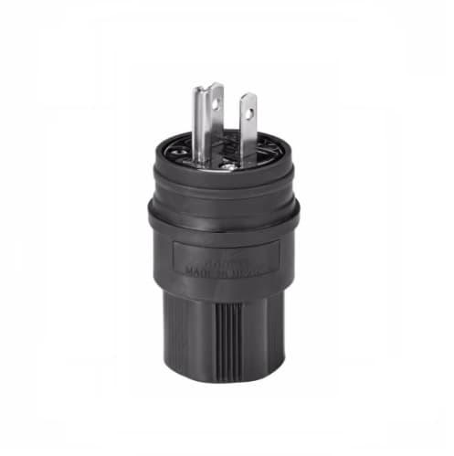 15 Amp Watertight Plug, Black